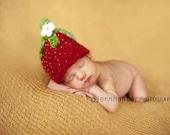 Strawberry Hat Newborn Handspun Crochet Pattern pdf 78