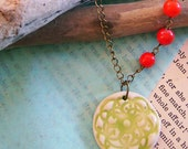 Allison - Ceramic Pendant Necklace
