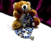 Blue Teardrop Gemstone Earrings Labradorite Gem Inspired Basketball Wives
