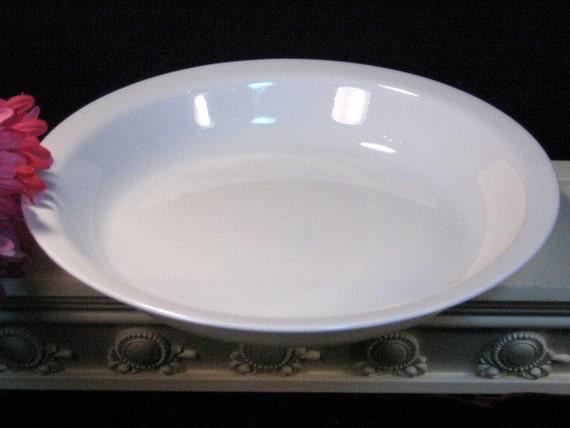 Vintage Pyroceram Corning Ware Corelle Winter Frost White Pie Pan
