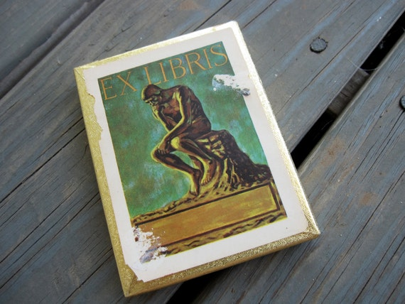 ON SALE - Vintage Bookplates - Set of 50 - Ex Libris - Book plate, Book label