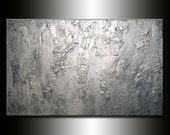 Original Textured Modern Large Abstract Metallic Thick Texture Gallery Canvas Contemporary Fine Art By Henry Parsinia 64x40 MADE2ORDER