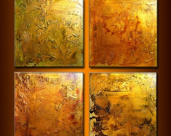 Huge Original Abstract Painting, Textured  Metallic Art by Henry Parsinia large 80x20