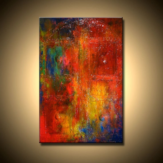 Original contemporary texture abstract oil painting by for Texture painting on canvas