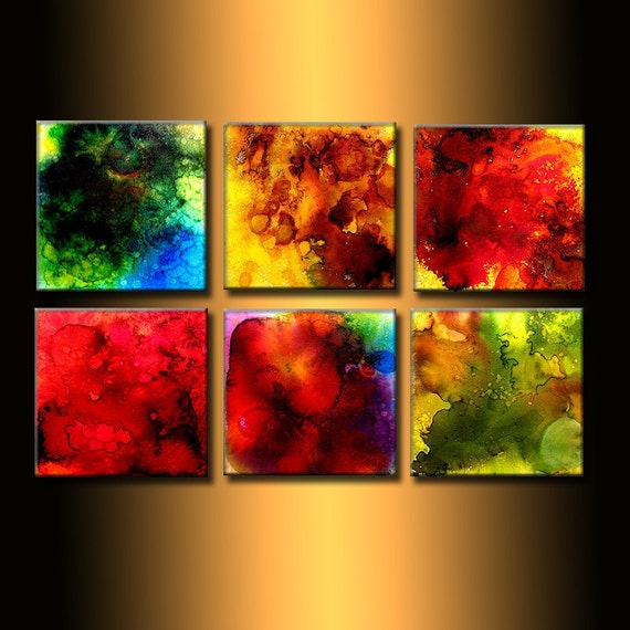 ORIGINAL Modern Abstract Painting, Contemporary Colorful Fine Art By Henry Parsinia 36x24