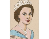 Queen Elizabeth ii Coronation Mixed Media Drawing Jubilee