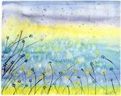 Summer Field - Original watercolor painting