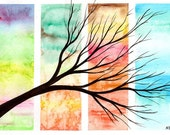Four Seasons in One Day - Original watercolour (watercolor) painting
