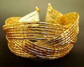 Golden Braided Cuff