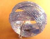 Cornflower Blue Bracelet,  Braided Cuff