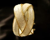 Gold Lined White Cuff