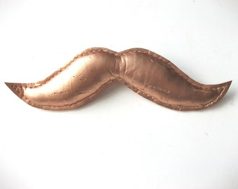SALE! Bronze Moustache Brooch