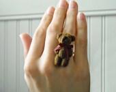 Mr. Teddy Bear Ring in Sterling Silver