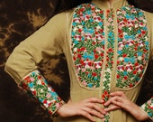 Reserved for rupitandmisspenelipe  Long Mexican Embroidered caftan Dress