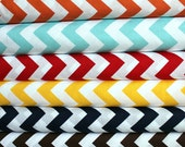 NEW Chevron fabric bundle by Riley Blake Designs - Half Yard Bundle- 5 total