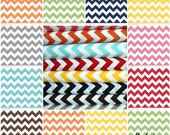 In stock, Medium Chevron fabric by Riley Blake Designs - Create your own Fat Quarter Bundle- 4 total