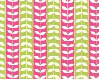Monaluna Mingle Leaf stripe SPRING 1/2 YD total