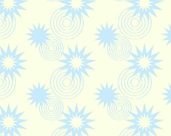 Green Lantern Licensed by David Textiles - Stars and circles light blue, 1/2 yd total