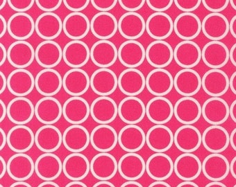 Robert Kaufman, Metro Living  Circles Fuschia 1/2 yd total