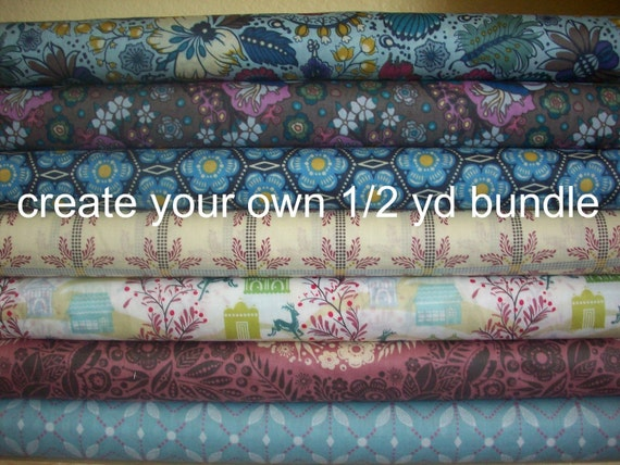 SALE.....20% off Create Your Own 1/2 YD Bundle of Little Folks Voile, choose any 6 fabric, get 1/2 yd of each
