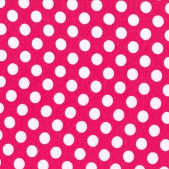 last one, SALE....20% OFF Patty Young's Pink Ta Dot Interlock Knit  1 yd total