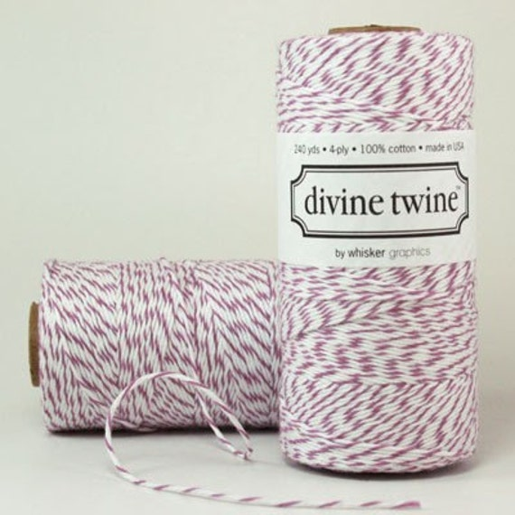 SALE...10% OFF  Divine Twine PURPLE plum Bakers Twine - 240yd Gift Wrapping