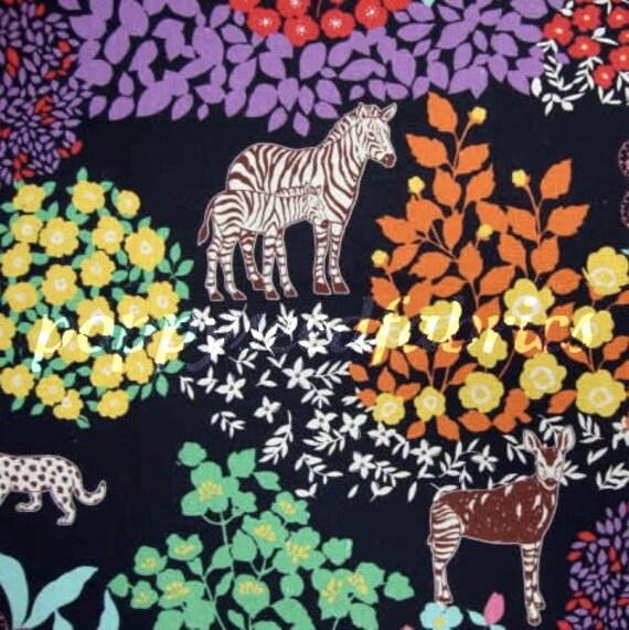 End of the bolt,  Echino Fabric Fall 2011 by Etsuko Furuya, Bond Savannah in Black- 1 yd 16 inches remain