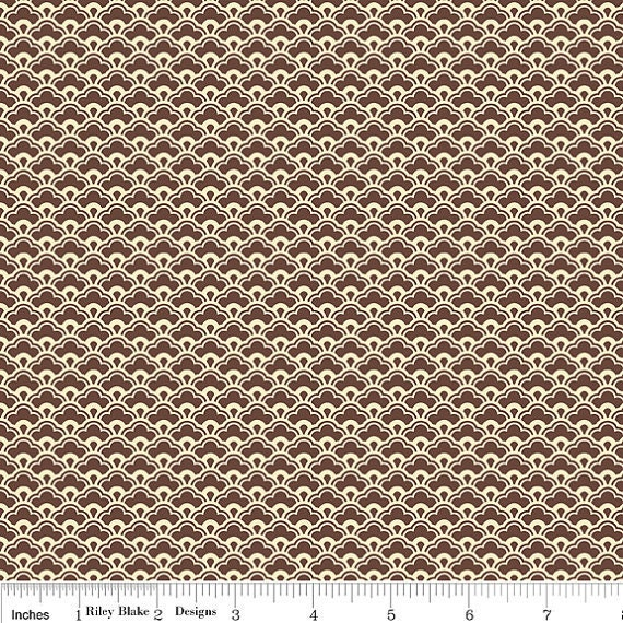 SALE....10% OFF Damask brown, from Fly a Kite by October Afternoon and Riley Blake, 1 yard, more yardage in stock