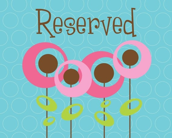 Reserved listing for Erin Moss