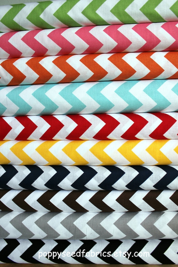 NEW Chevron fabric bundle by Riley Blake Designs -Yard Bundle- 7 total