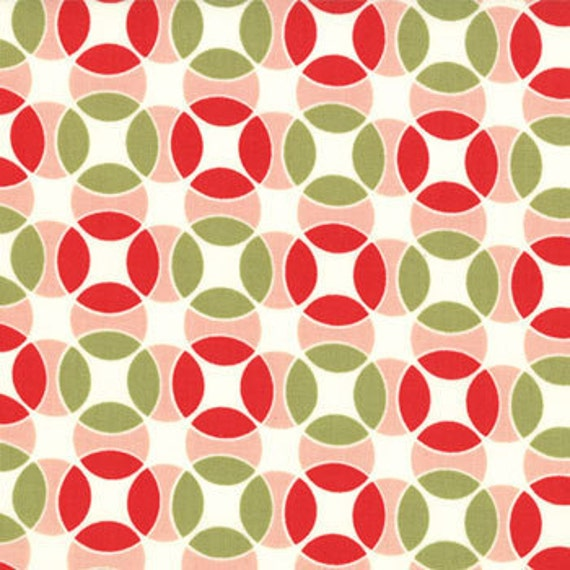 """SALE.... Vintage Modern by Bonnie and Camille for Moda, Hopscotch Candy Apple 34"""" remain"""