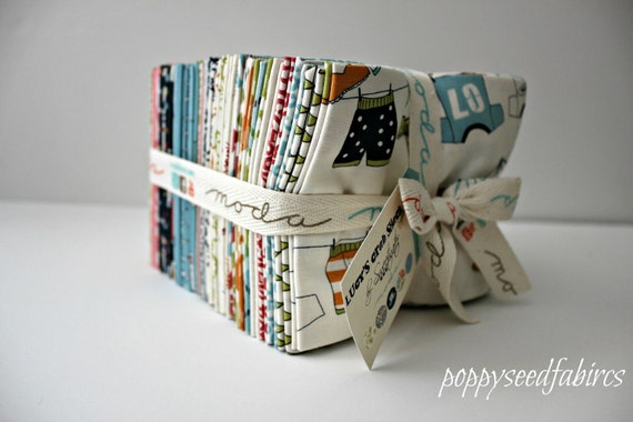 SALE 10% OFF Last one, Lucy's Crab Shack - Fat Quarter Bundle (34) - Entire COLLECTION - by Sweetwater for Moda Fabrics