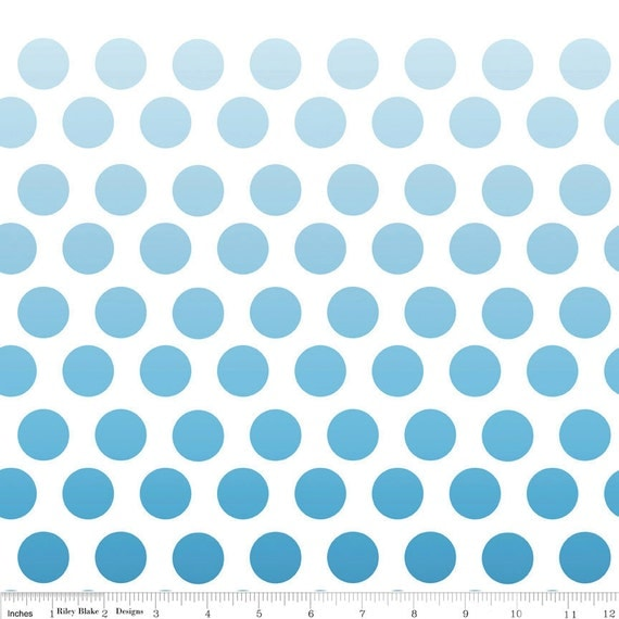 SALE.... Ombre Dots in Navy by Riley Blake, 1/2 yard total