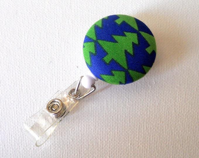 Christmas Tree - Name Badge Holder - Retractable ID Badge Reel - Holiday Badge Reel - RN Badge Clip - Teacher Badge Reel
