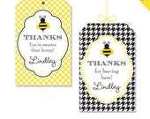 Bumblebee Party - Personalized DIY printable favor tags