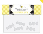 Bumblebee Party - Personalized DIY printable treat bag label