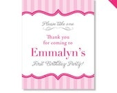 Pretty in Pink Party - Personalized DIY printable sign