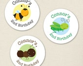 Insect Party - Custom Stickers - Sheet of 12 or 24