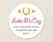 Country Western Party - Personalized address labels - Sheet of 24