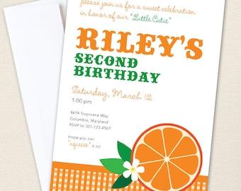 Orange Party Invitations - Professionally printed *or* DIY printable