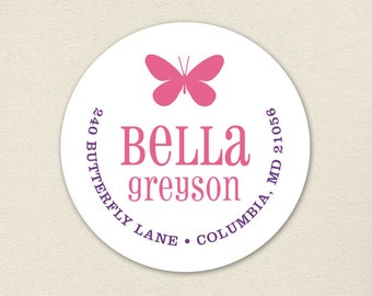 Butterfly Address Labels - Sheet of 24