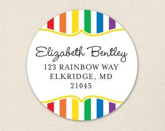 Rainbow Address Labels - Sheet of 24