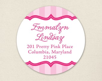 Pretty in Pink Address Labels - Sheet of 24