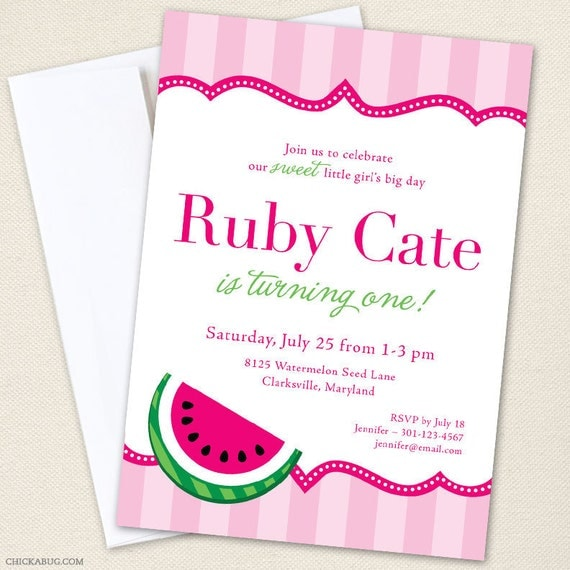Watermelon Party Invitations - Professionally printed *or* DIY printable