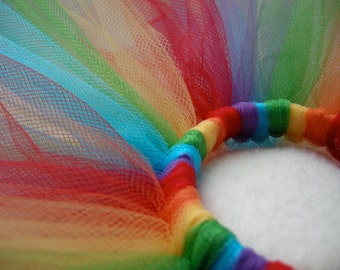 Tutu for Doll - Tutu for Sock Monkey- Rainbow