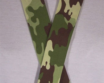 Camo Green And Brown Camouflage Neck Cooler For Hot Weather