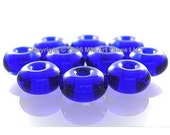 SALE 45% off - 7mm ROYAL BLUE Glass Lampwork Beads Spacer Handmade - The Spacer Bead Shop