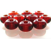 Ruby Red Glass Beads Lampwork Spacers Handmade - The Spacer Bead Shop