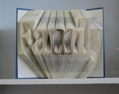 Folded Book Art Sculpture - Family - made to order