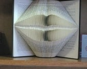 Folded Book Art Sculpture - Lover's Kiss - Engagement - Anniversary - Valentine - Girlfriend - Boyfriend